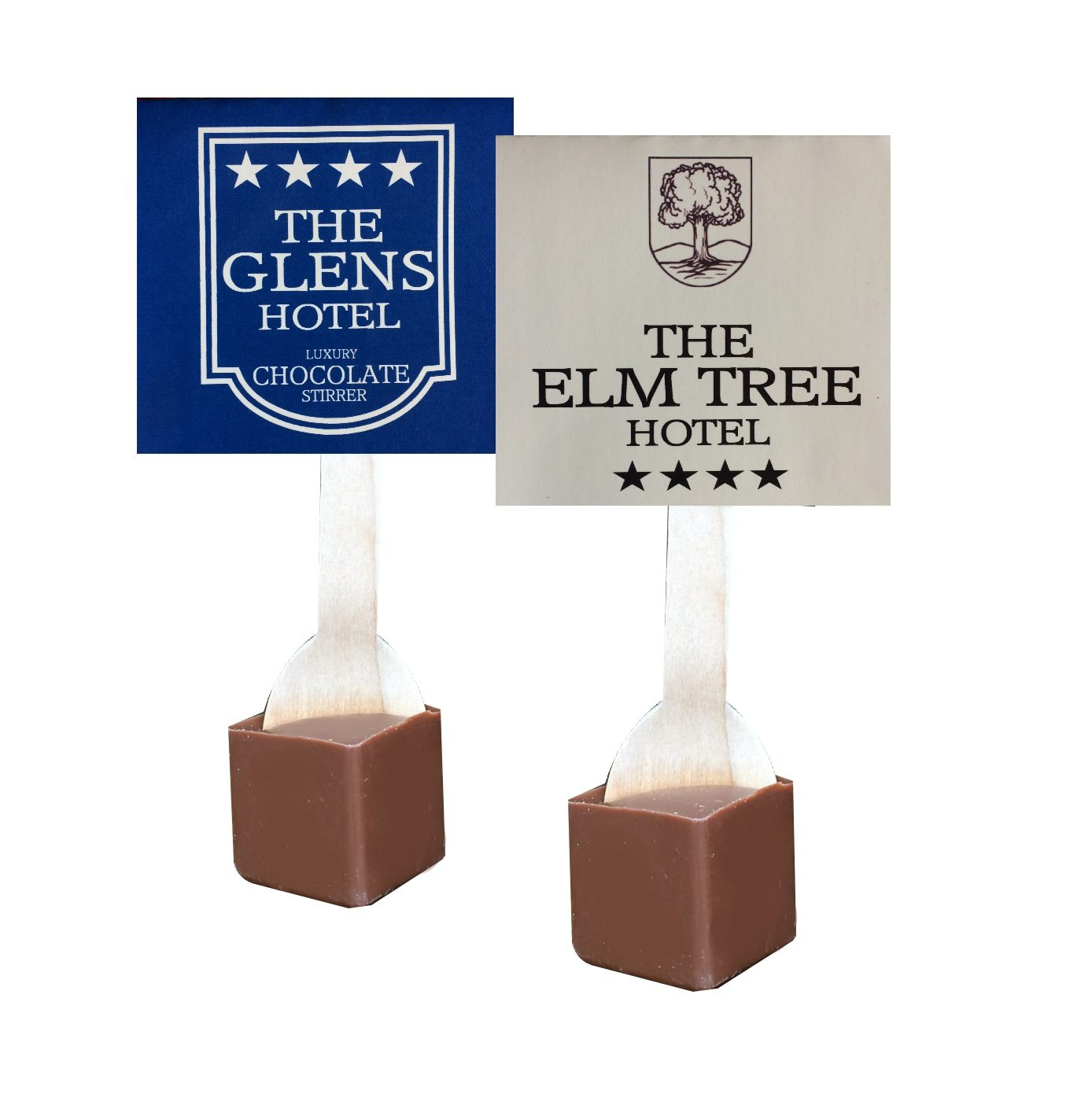 custom label hot chocolate, provate label hot chocolate stirrers